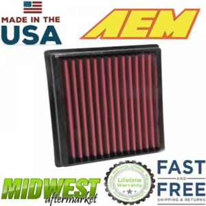 AEM Dryflow Washable Air Filter Fits 2012-2019 Toyota Camry 3.5L V6