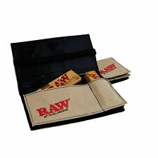 RAW Smokers Pouch Travel case King size rolling paper Hemp Wallet RAW