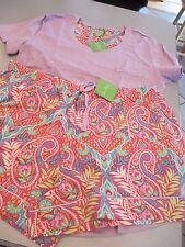 Vera Bradley Pajama Tee Shirt  and short set  ~ paisley in paradise size large