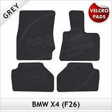 BMW X4 F26 2014 onwards Velcro Pads Tailored Fitted Carpet Car Floor Mats GREY