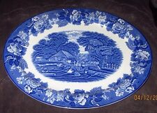 "Enoch Wood's English Scenery Woods Ware England Platter 14 1/2""  x 11"""
