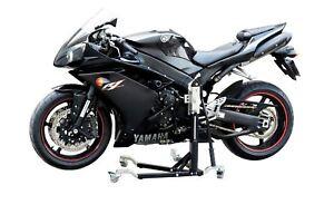 Biketek Motorcycle Motorbike Heavy Duty Steel Riser Stand 360 Degree Rotation