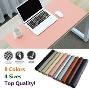 Modern Large Computer Desk Mat Leather Keyboard Mouse Pad Laptop Cushions