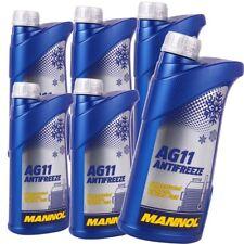 6 L Radiateur antigel bleu ag11 MANNOL Antifreeze -40 C réfrigérant à diluer