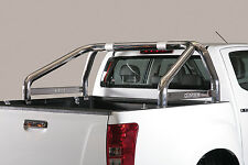 ROLL BAR MARK SPONDE MISUTONIDA INOX D. 76MM 2 TUBI PER ISUZU D-MAX '17 D.C.