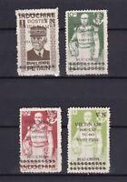 VIETNAM 1945-1946, Sc#1L21-1L24, Viet Minh issues, No Gum as issued
