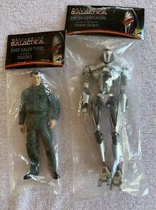 Battlestar Galactica Figures - Chief Galen Tyrol & Cylon Centurion