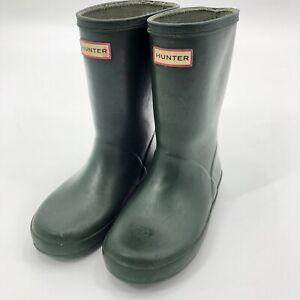 Hunter Rain Boots Little Boys Size 11 Green Rubber