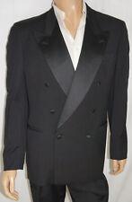 VINTAGE 1990s 42L Cerruti 2-Piece Tuxedo - Men 42 Black DB Tux Formal Suit 34x32