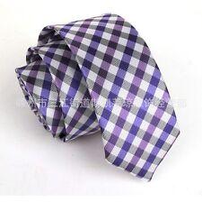 Men's Neck Tie Necktie Fashion Blue Purple Wedding Narrow Slim Skinny New SK203
