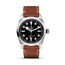 AUTHENTIC NEW TUDOR HERITAGE BLACK BAY 36mm LEATHER STRAP WATCH M79500-0003
