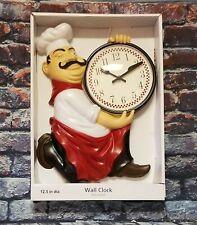 Fat Italian Chef Bistro Wall Clock Diameter Kitchen Home Decor