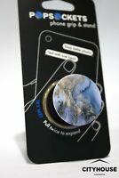 PopSockets Single Phone Grip PopSocket Universal Phone Holder BLUE GOLD MARBLE