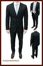 Abito uomo 54 Cerimonia Completo Casual Vestito Elegante Classico Nero Estivo