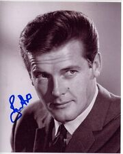 ROGER MOORE signed autographed photo JAMES BOND 007