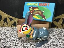 NOS Vintage Japan Tin Wind Up Jumping Rabbit 1960s Unused NRFB MIB Toy