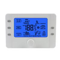 Battery Programmable Room Thermostat Smart Boiler Central Heating Pump 24V