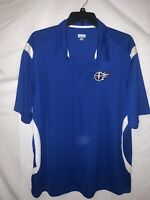 Augusta Sportswear Mens Tennessee Titans 3XL 1/4 Button Up Polo Short Sleeve Blu