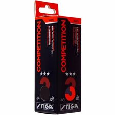 Stiga Competition Three Star Ping Pong Ball (Pack Of 3, White)