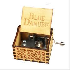 Christmas Souvenir Gifts The Blue Danube Songs Mini Hand Crank Music Box