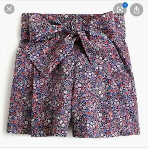 NWOT Liberty Tana Lawn Tie Waist Shorts Sz 4 Floral