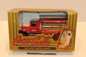 Vintage 1993 ERTL Coca-Cola Die Cast Metal Truck Bank, #2919, NOS