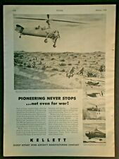 1944 ROTARY WING HELICOPTER BORDER PATROL KELLETT WWII vintage Trade print ad