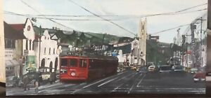1950s/60s Hollywood Tramcar 5132 - Original Acrylic Painting on canvas