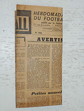 FRANCE FOOTBALL OFFICIEL HEBDOMADAIRE FFF N°456 14/12 1954