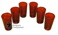 6 Vintage Ruby Red Juice glasses Stunning Water Cups Highball Tumbler Cocktail