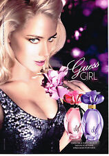 PUBLICITE ADVERTISING 045  2014  GUESS  parfum GIRL  AMBER HEARD