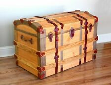 Woodworking plan to build a European style trunk.  A best selling pattern