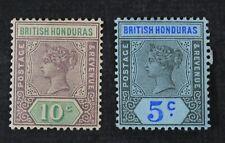 CKStamps: GB British Honduras Stamps Collection Scott#52 53 Mint H OG