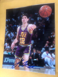 John Stockton Signed 8x10 Photo Utah Jazz COA