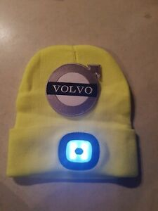 VOLVO FH16/FM STYLE YELLOW LED BEANIE HAT TRUCKER/FITTER/MECHANIC (STYLE 2)
