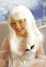 Childrens Long White Wig Angel Fariy Pixie Fancy Dress