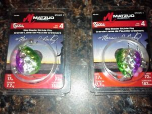 2 PKS MATZUO BIG BLADE SICKLE WALLEYE RIGS #MZ-BB4-ALEWIFE Live Bait Fishing