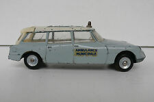 DINKY TOYS FRANCE  CITROEN ID 19 BREAK AMBULANCE  REF 556  1962  ÉTAT DE JEU