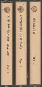 Warner Chappell Music Demonstration Tapes Film & TV / Charts / New 3 x Cassette