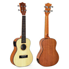 Kmise Spruce 23 Inch Electro-Acoustic Concert Ukulele Hawaii Guitar for Gift