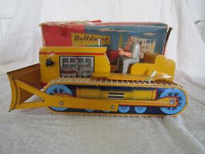 JOUSTRA BULLDOZER ELECTRIQUE EN BOITE jouet ancien