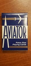 AVIATOR Poker 914 Playing Cards BLUE Deck Poker Size NEW