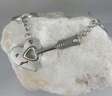 Llaveros Amor Corazon Flecha Pareja Cupido San Valentin