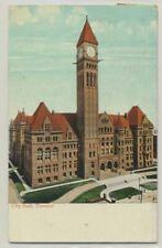 New listing Canada Sc. 97 on 1908 Postcard City Hall, Toronto, On