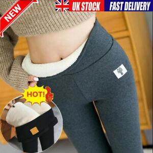 SUPER DICKE Damen Plüsch Leggings Fleecefutter Winter Warm High Waist Stretchy L