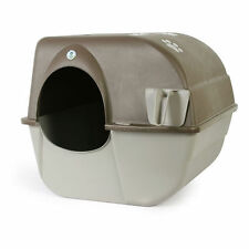 NEW Omega Paw Self Cleaning Cat Kitty Litter Box LARGE Roll Away Pewter