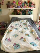 Vintage 1997 Barney And Friends Twin Size Fitted Bed Sheet