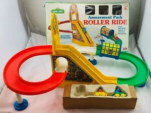 1995 Sesame Street Roller Ride Amusement Park Roller Coaster by Tyco Good Cond