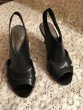 Bandolino Pump Heels Black Peep Toe Size 6.5M