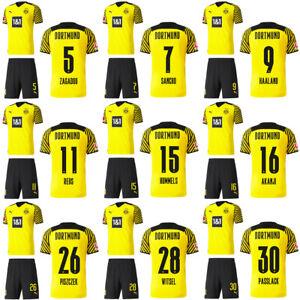 Puma Football Borussia Dortmund BVB Mens Home Kit 2021 2022 Jersey/Shirt Shorts